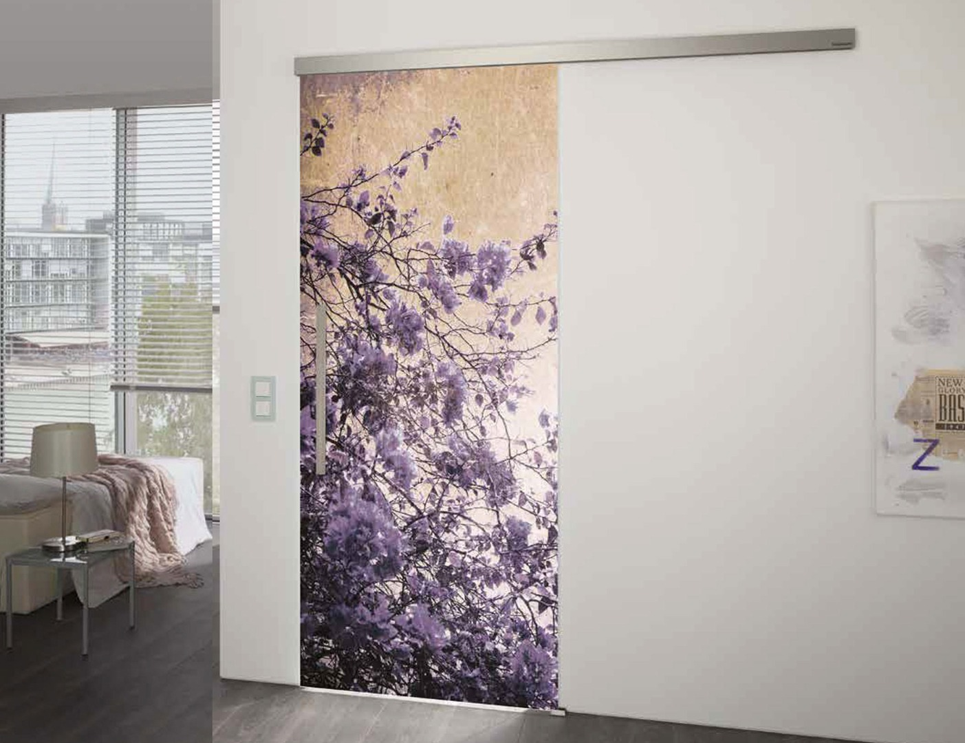 Spring Time VSG Laminate Glass Door Design - Internal Glass Doors