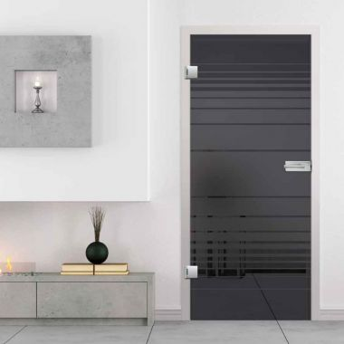 Lava Grey Glass Door Design - Smoked Glass Doors