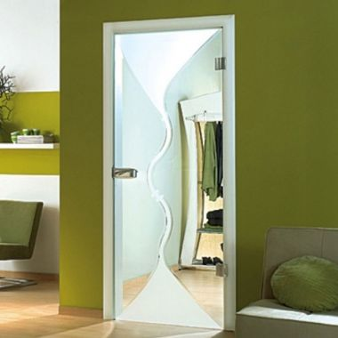 Torino Grooved Glass Door Design - Internal Glass Door