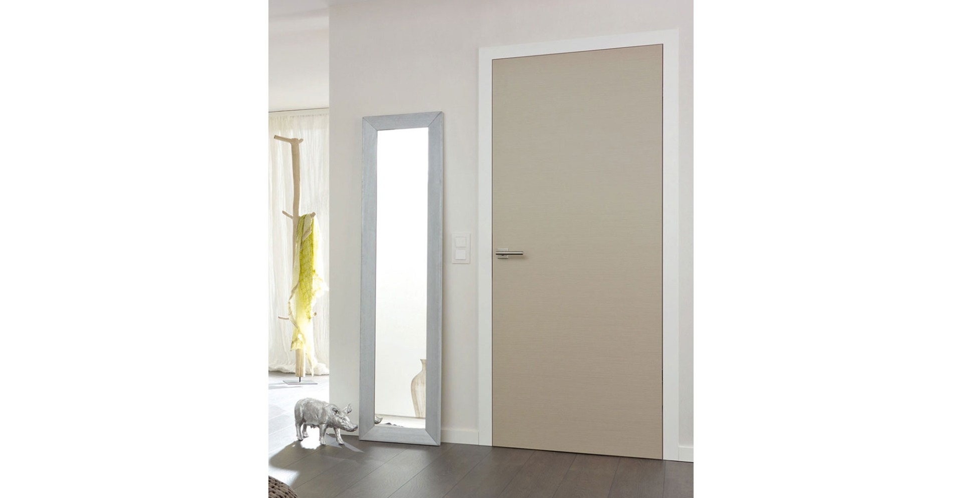 Fine Polished Natural Veneer - Grey Internal Doors