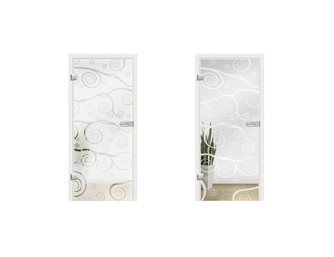 Vino Glass Door Design - Interior Glass Doors