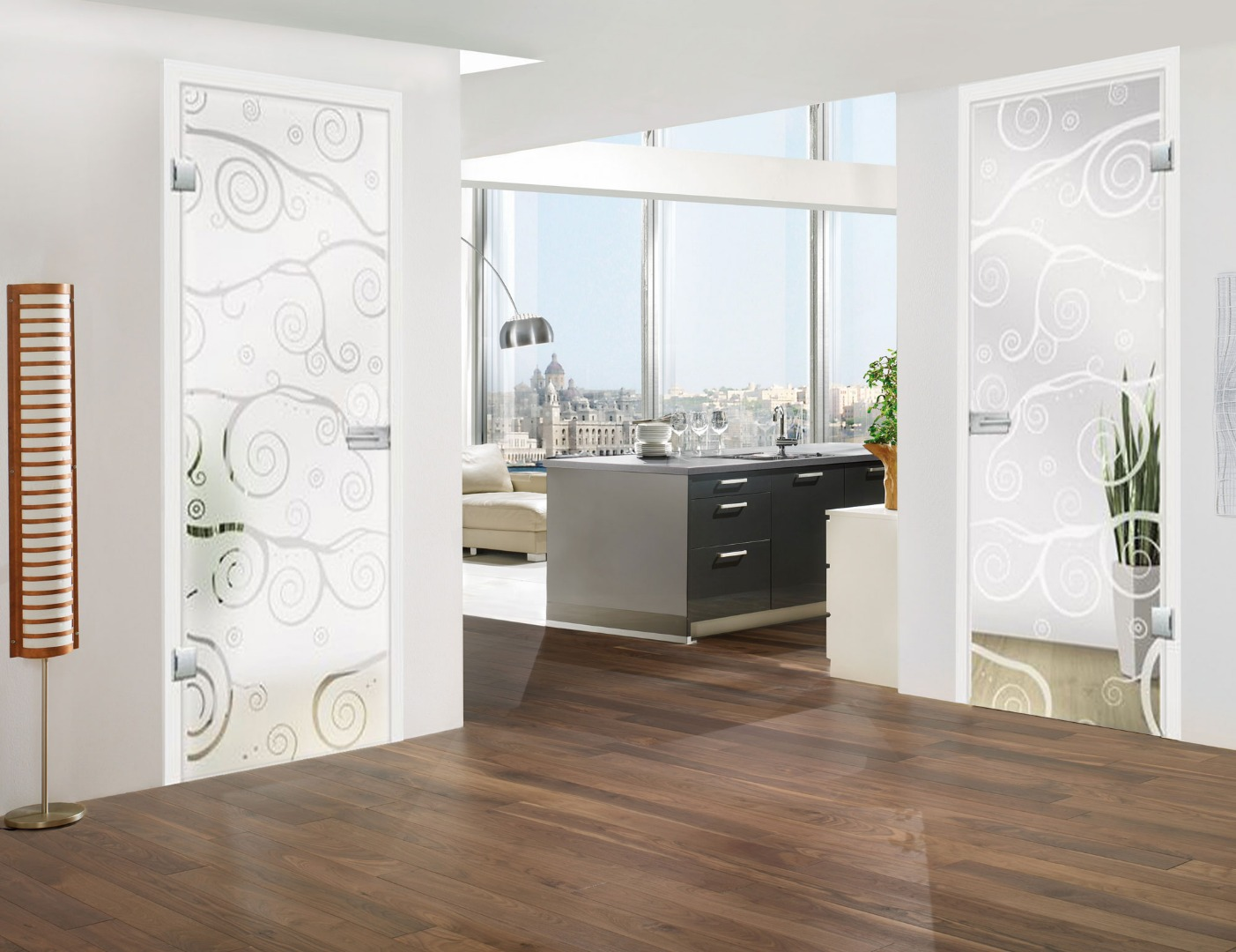 glass doors interior