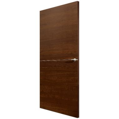 Walnut Veneer Steel Art Type 135 Door - Fire Check Doors