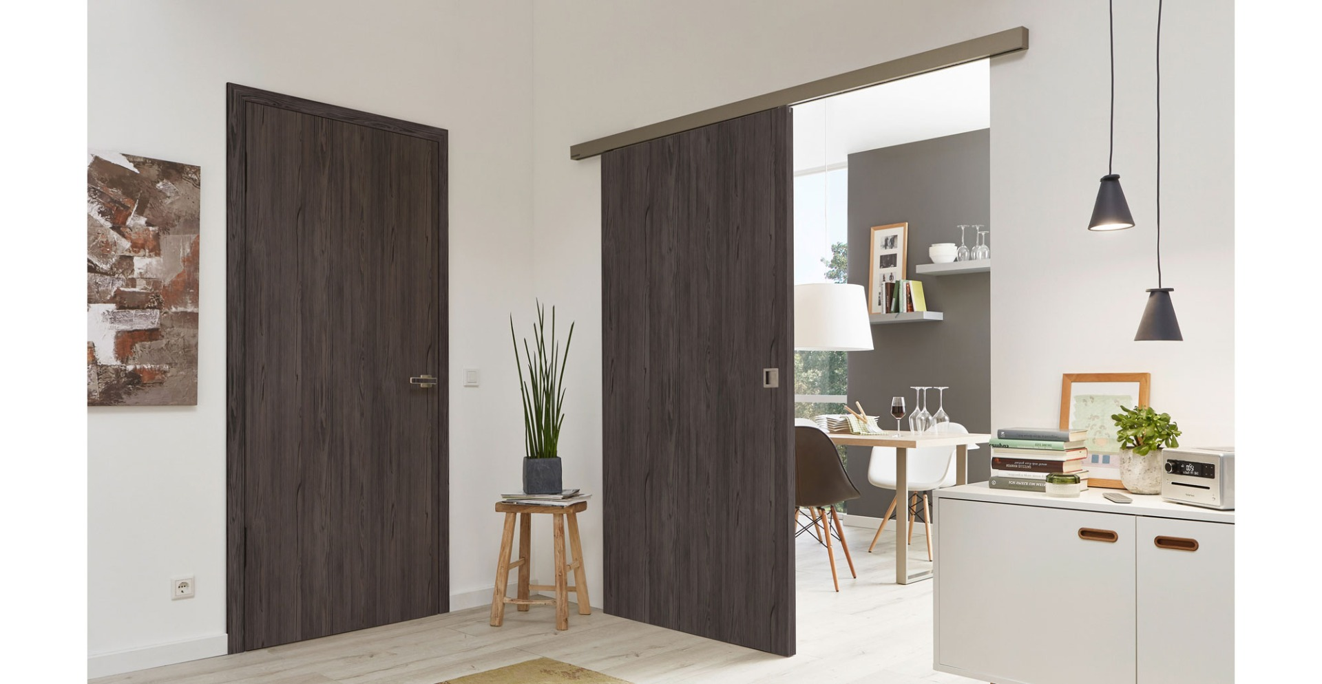 Wenge Laminate Doors - Dark Wood Doors