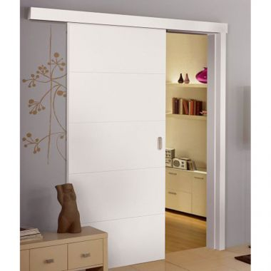White Internal Door Designs - Sliding Internal Doors - Internal Sliding Grooved Doors