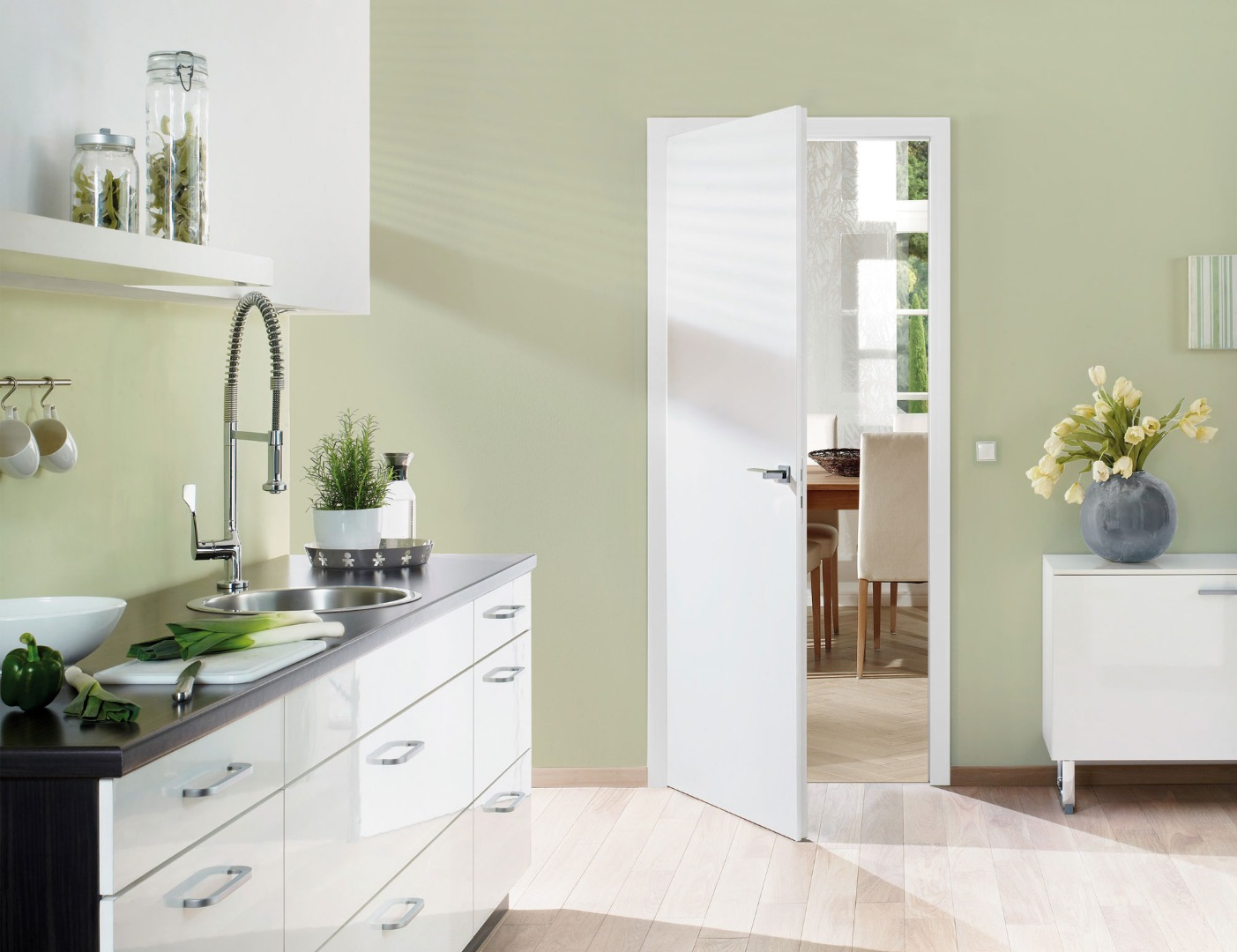 white contemporary doors