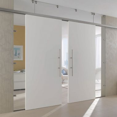 White Painted Doors - White Sliding Internal French White Doors - Glass Panels