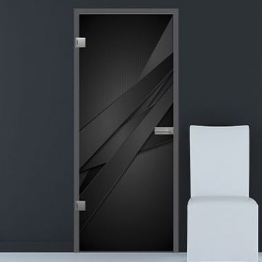 Black Lines, Rotation and Violin VSG Laminate Glass Design - Bespoke Doors